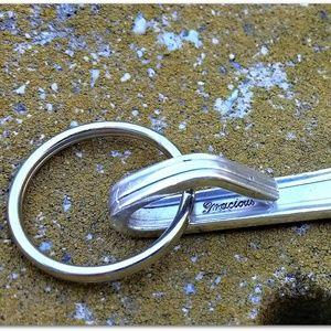 Anvil Designs Accessories - Be Zen Namaste Vintage Silverware Key Chain